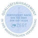 Siegel ISO Zertifizierung Qualitätsmanagement in der medizinischen Vorsorge
