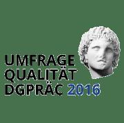 Umfrage Qualität DGPRÄC 2016