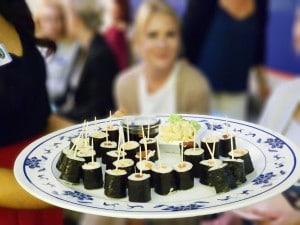 Sushi bei Event mit Live Behandung in der Praxis von Frau Dr. Pirkko Schuppan